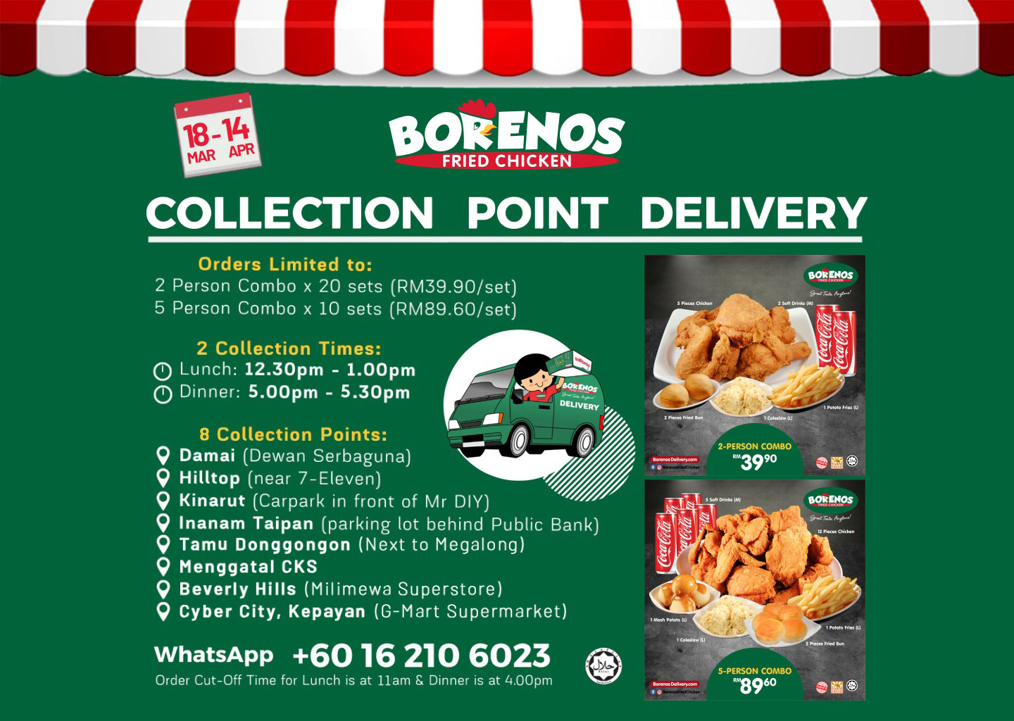 Borenos Collection Point Delivery fight covid19 mco